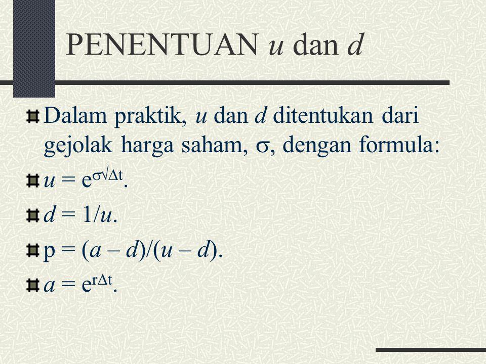 DELTA (2) Bentuk lindung nilai bebas risiko sering disebut sebagai lindung nilai delta. Delta opsi beli adalah positif, sedangkan delta opsi jual adal