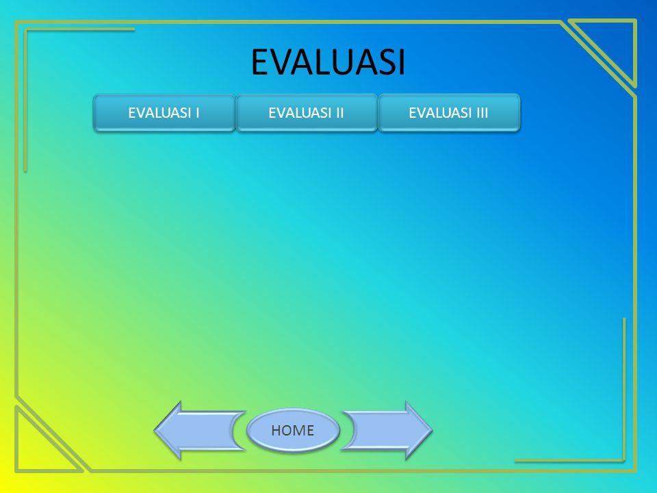 EVALUASI HOME EVALUASI I EVALUASI II EVALUASI III