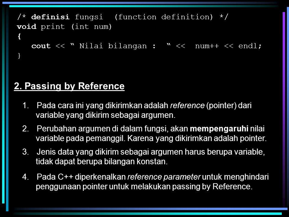 /* Program C Hitung Luas Segi Tiga Tanpa Modul */ #include void main() { /* Deklarasi Variabel */ float Alas, Tinggi, Luas; /* Memasukkan Data */ printf ( Masukkan Alas = ); scanf( %f , &Alas); printf ( Masukkan Tinggi = ); scanf( %f , &Alas); /* Menghitung Luas */ Luas = 0.5 * Alas * Tinggi; /* Menampilkan Hasil */ printf ( Luas Segi Tiga = %f \n , Luas); }