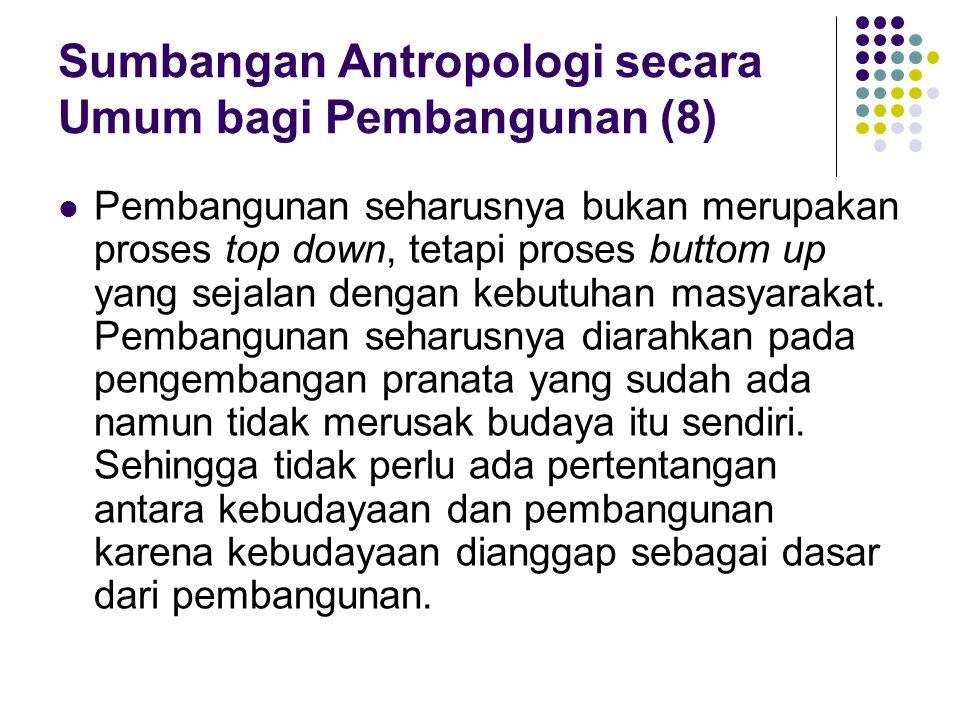 Etika dalam Kajian Antropologi Terapan Antropologi memiliki etika pertanggungjawaban sehingga antropologi harus bertanggung jawab terhadap siapa yang mereka pelajari dalam hal ini tentu saja subyek kajian antropologi.