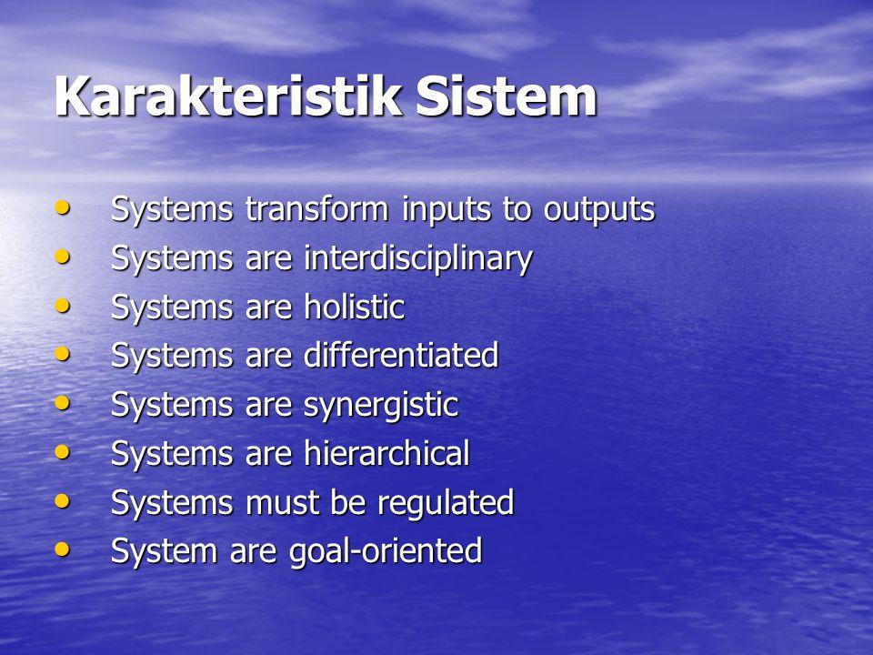 General Systems Theory Sebagian besar konsep sistem berkaitan dengan CBIS, yang dapat ditemukan dalam sekumpulan prinsip yang dikenal sebagai General Systems Theory (GST).