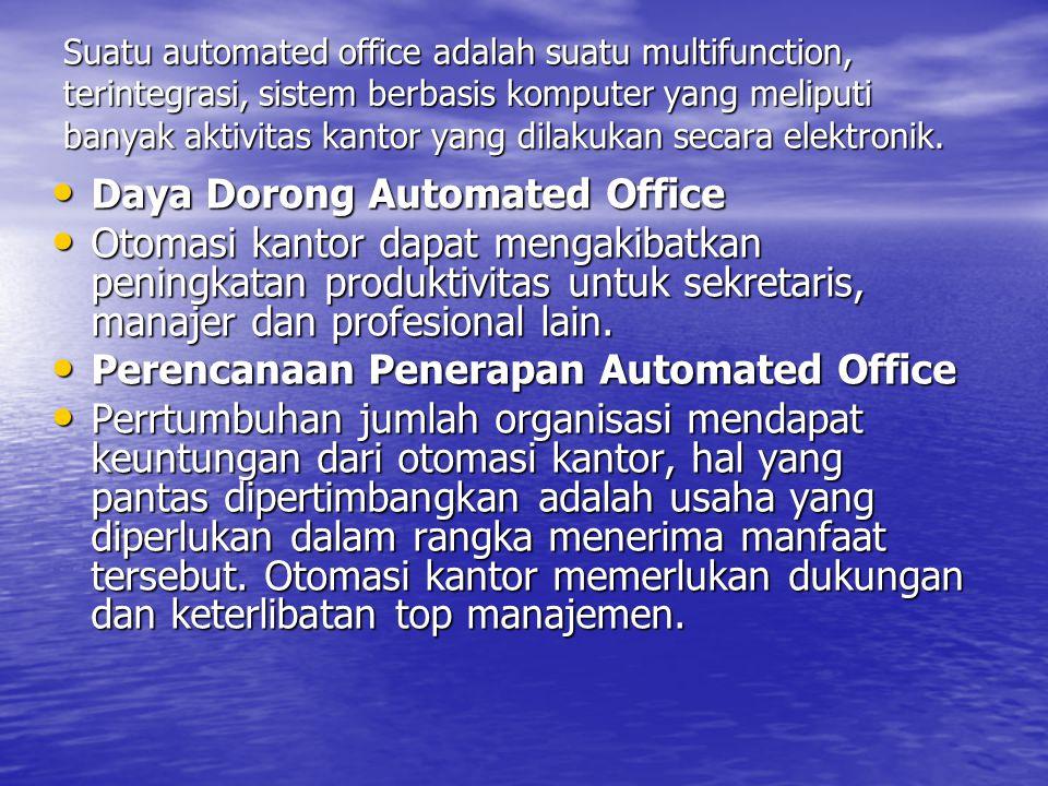 Definisi Automated System Komponen Automated Office dan Fungsi Utamanya