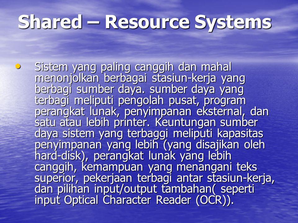 Stand – Alone Display Systems Ada penyimpanan eksternal, yang umumnya disajikan oleh disket.