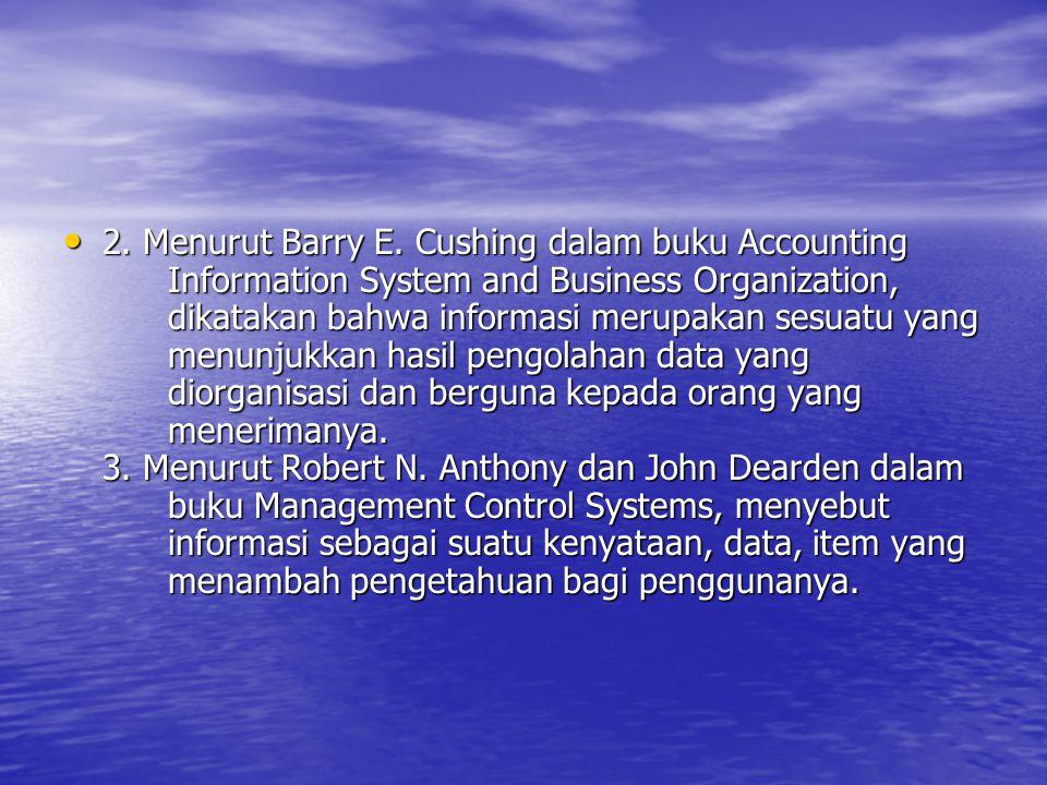 Informasi Berikut juga akan disampaikan pengertian informasi dari berbagai sumber.