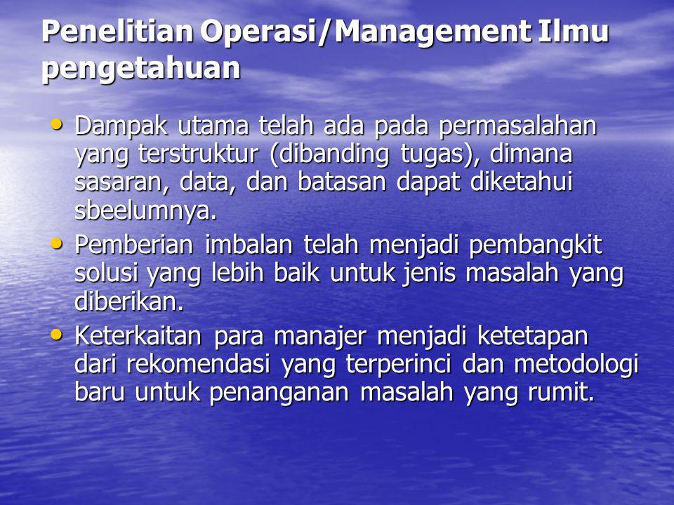 Perbedaan Antar SIM, OR/MIS, dan DSS Sistem Informasi Manajemen Sistem Informasi Manajemen Dampak utama telah ada pada tugas terstruktur, dimana prosedur operasi standard, kaidah pengambilan keputusan, dan aturan informasi, dan arus informasi dipercaya sudah dikenal.