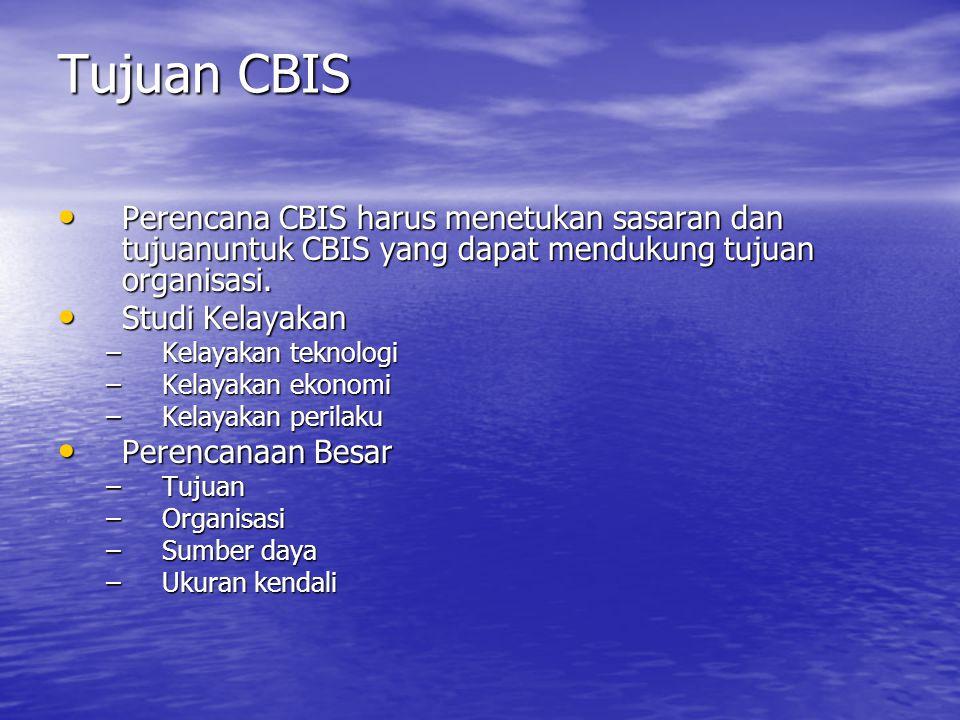 Fase Perencanaan Mengenali Kebutuhan terhadap CBIS Tabel Indikasi kebutuhan terhadapCBIS