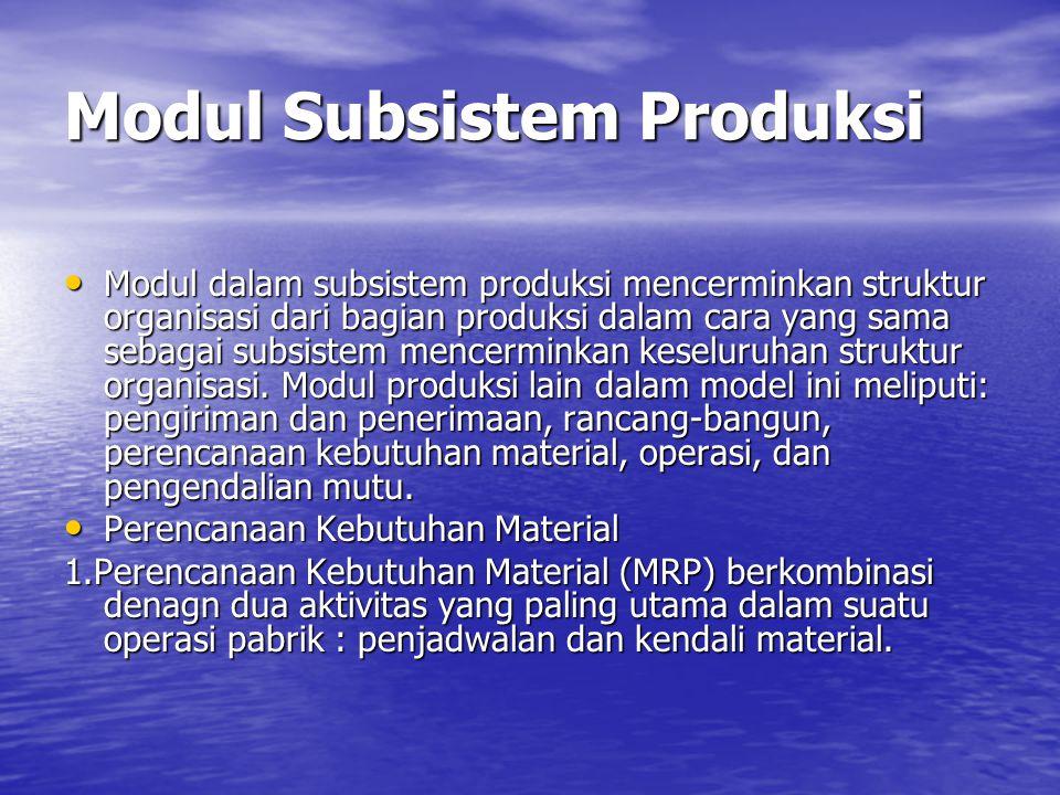 CHAPTER 10 FUNCTIONAL APPLICATION OF MIS : PRODUCTION Subsistem Produksi Subsistem Produksi melibatkan konversi sumber daya input menjadi output dalam bentuk barang dan jasa/layanan.
