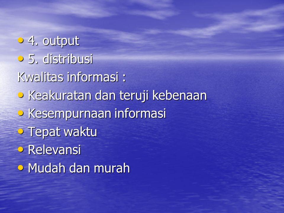 Tahapan Siklus informasi 1.pengumpulan data 1. pengumpulan data 2.