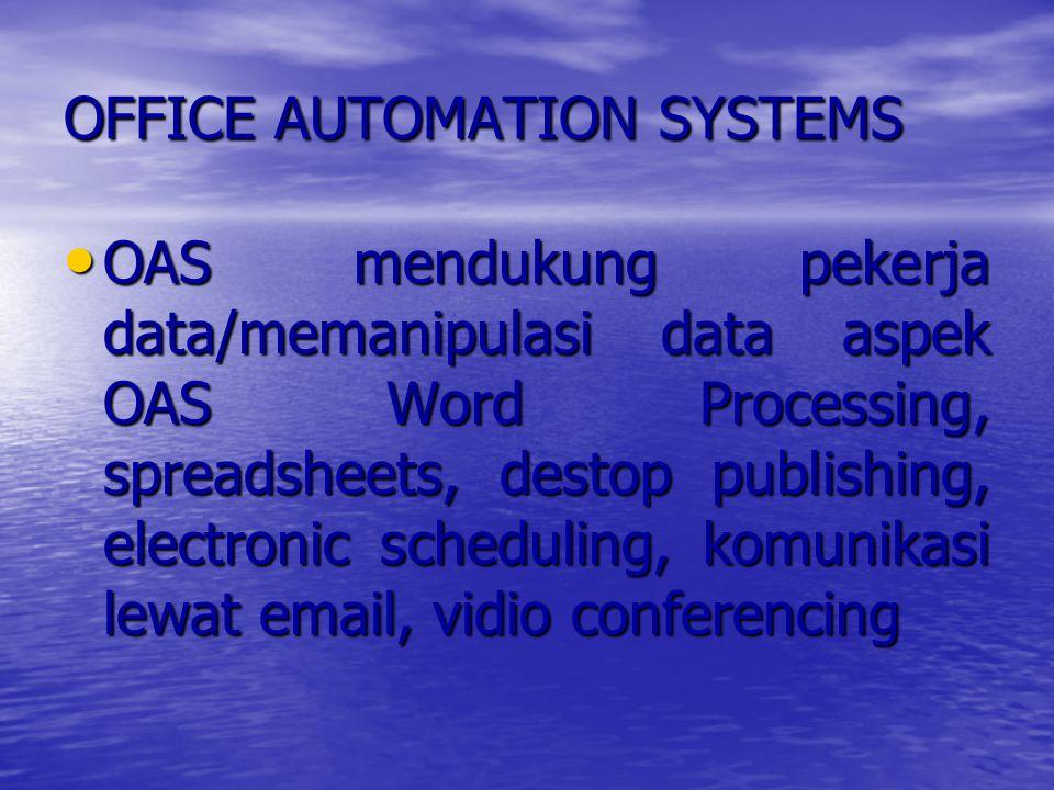 TRANSACTION PROCESSING SYSTEMS Sistem informasi yang terkomputerisasi yg dikembangkan utk proses data dlm jml besar utk transaksi bisnis dan inventarisasi/ Secara manual untuk diproses ke komputer.