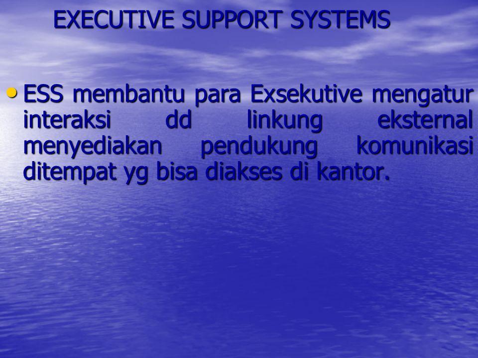 GROUP DECISION SUPPORT SYSTEMS GDSS adl membawa kelomp bersama menyelesaikan masalah dg memberi bantuan dengan bentuk pendapat, kuesioner, konsultasi, skenario.
