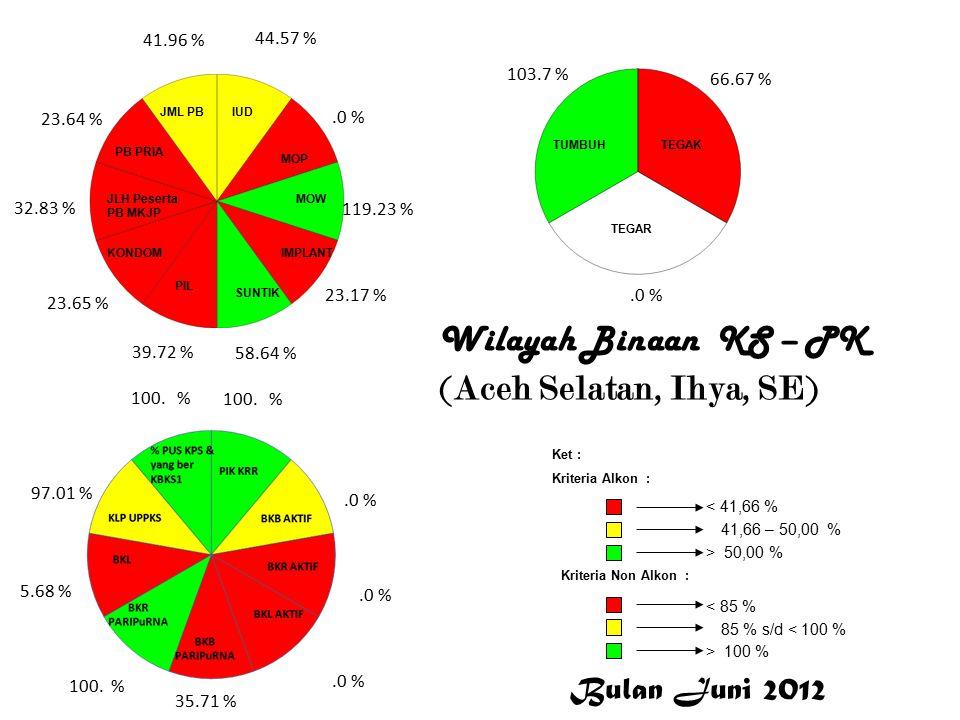 Wilayah Binaan KS – PK (Aceh Selatan, Ihya, SE) 44.57 %.0 % 119.23 % 23.17 % 58.64 % 39.72 % 23.65 % 32.83 % 23.64 % 41.96 % 100.