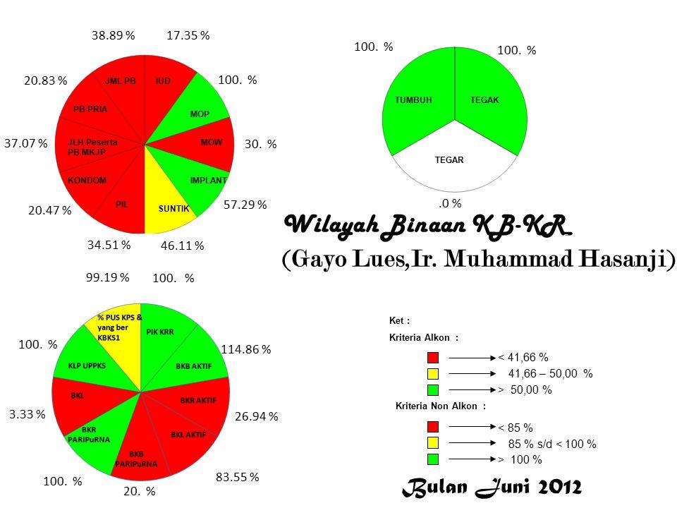 Gayo Lues Wilayah Binaan KB-KR (Gayo Lues,Ir. Muhammad Hasanji) 17.35 % 100.