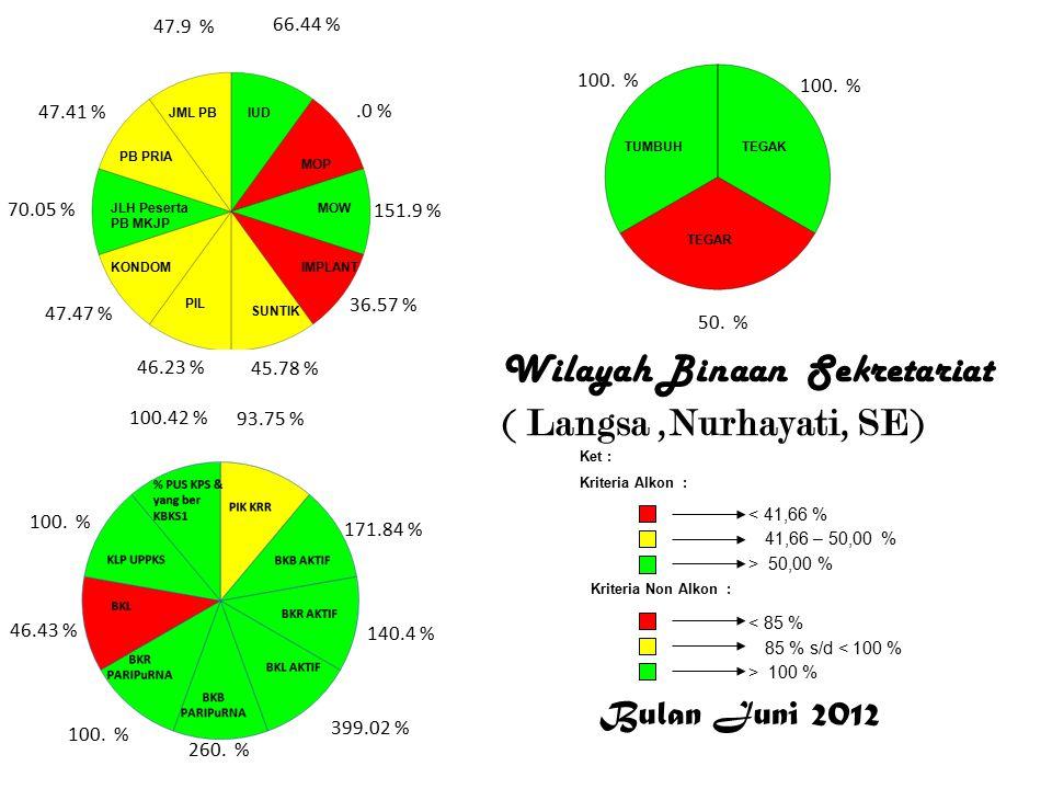 Aceh Barat Daya Wilayah Binaan Sekretariat ( Aceh Barat Daya, Fahmi, SE) 12.96 %.0 % 20.