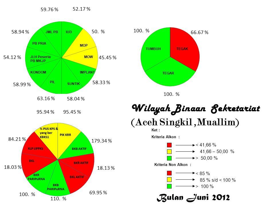 Wilayah Binaan KS-PK ( Aceh Jaya, Irma Dimyati, SE) 106.41 %.0 % 80.