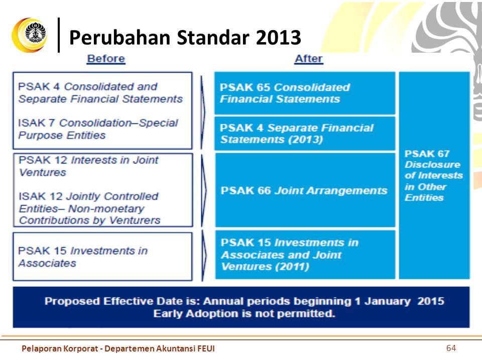 Perubahan Standar 2013 65 Pelaporan Korporat - Departemen Akuntansi FEUI