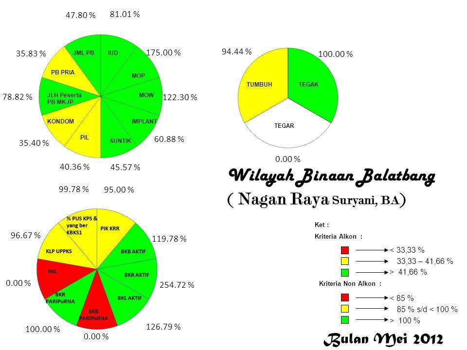 Nagan Raya Wilayah Binaan Balatbang ( Nagan Raya Suryani, BA ) Nagan Raya 81.01 % 175.00 % 122.30 % 60.88 % 45.57 % 40.36 % 35.40 % 78.82 % 35.83 % 47