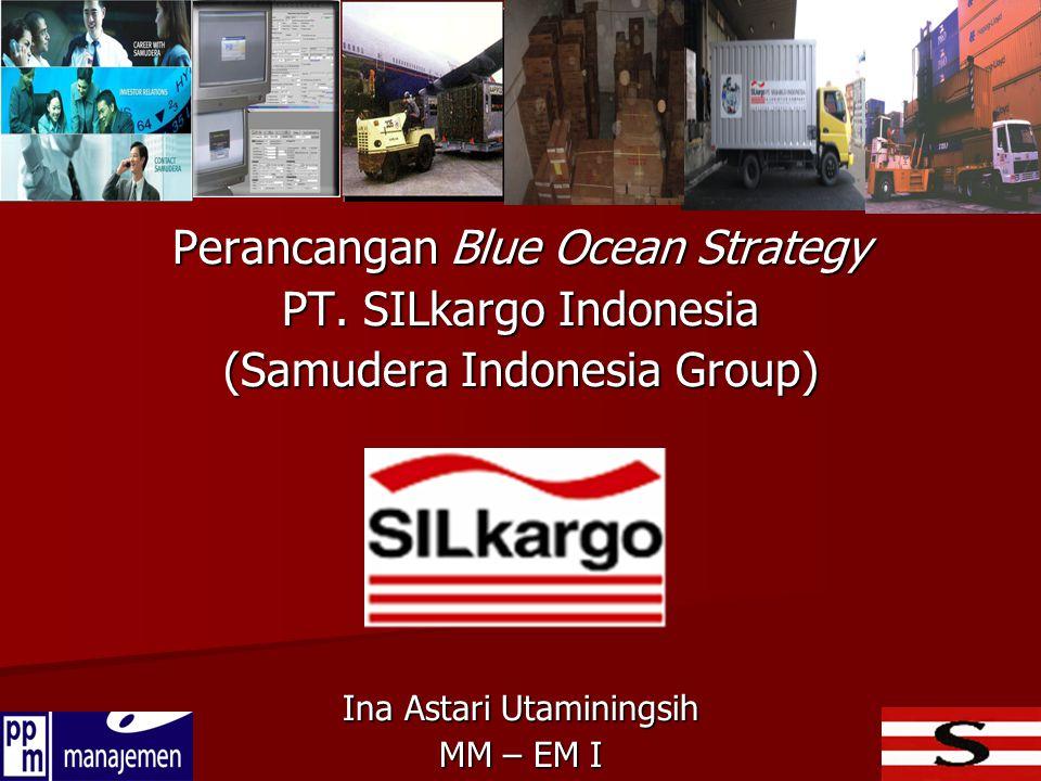 RUANG LINGKUP Strategi Blue Ocean : hanya sampai pada rangkaian strategi yang dinilai sudah memenuhi BOI (prinsip 1 - 4) dan tidak sampai pada implementasi / eksekusi strategi (prinsip 5 & 6) SILkargo beserta cakupan industrinya : data periode tahun 2007 – 2009 SEMINAR PROPOSAL TESIS – BLUE OCEAN STRATEGY PT.