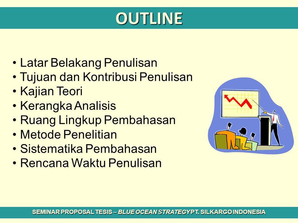 NEXT ?? SEMINAR PROPOSAL TESIS – BLUE OCEAN STRATEGY PT. SILKARGO INDONESIA