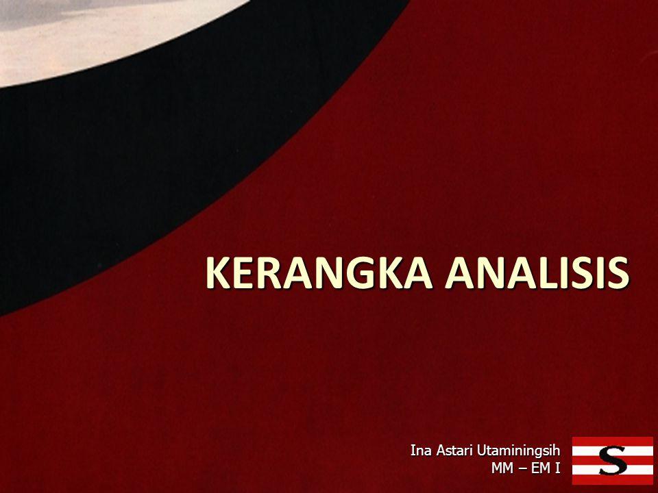 KERANGKA ANALISIS Ina Astari Utaminingsih MM – EM I