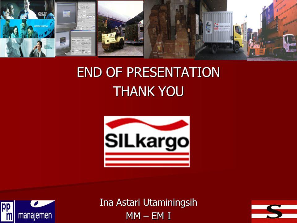 END OF PRESENTATION THANK YOU Ina Astari Utaminingsih MM – EM I