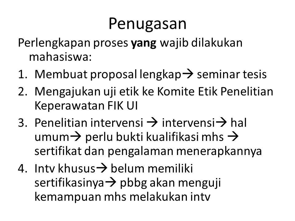 PENUGASAN 3.Menyusun laporan hasil untuk diajukan pada seminar hasil 4.