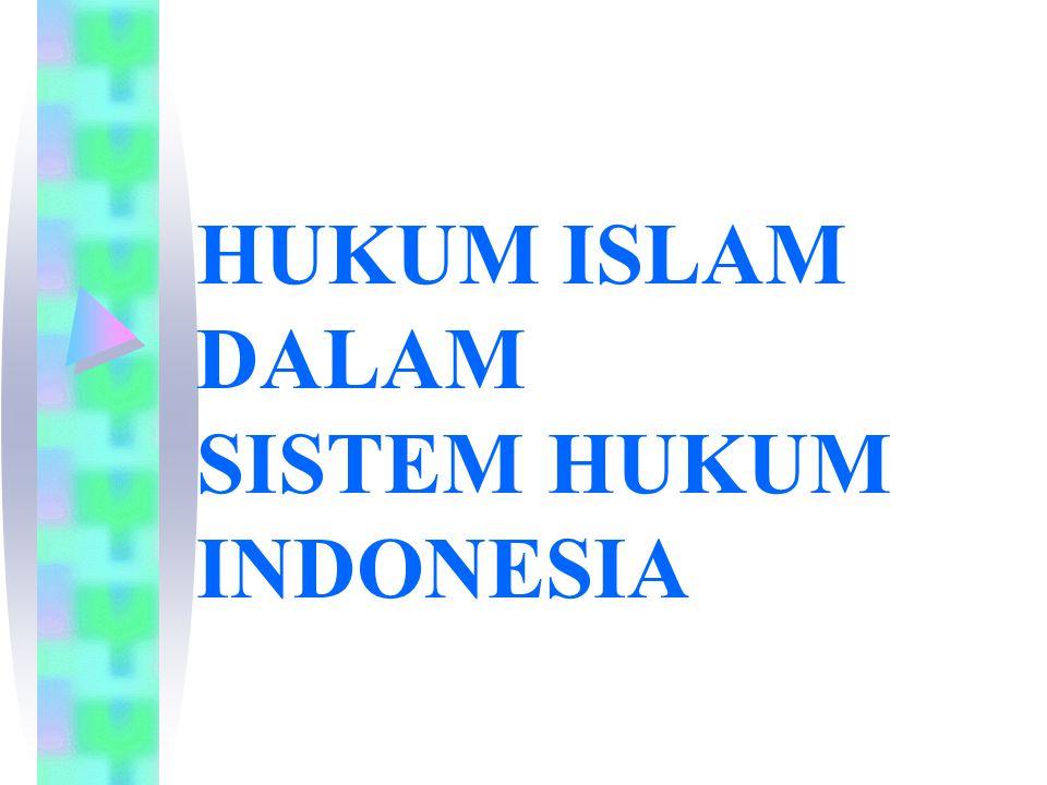 HUKUM ISLAM DALAM SISTEM HUKUM INDONESIA