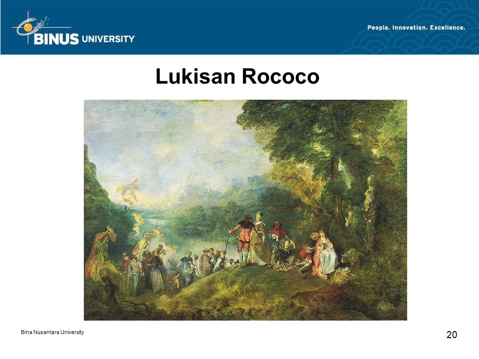 Bina Nusantara University 20 Lukisan Rococo