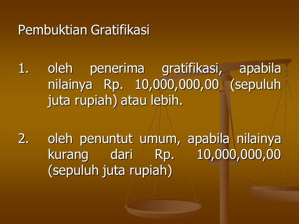 Gratifikasi tidak dianggap sebagai suap apabila penerima menyampaikan laporan kepada Komisi Pemberantasan Korupsi, selambat-lambatnya 30 hari sejak menerima gratifikasi tersebut