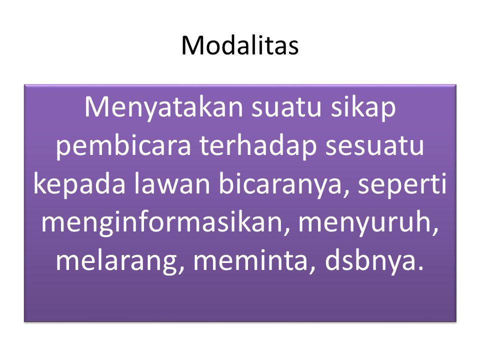 Jenis Modalitas 1