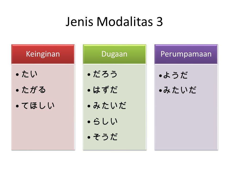 Jenis Modalitas 3
