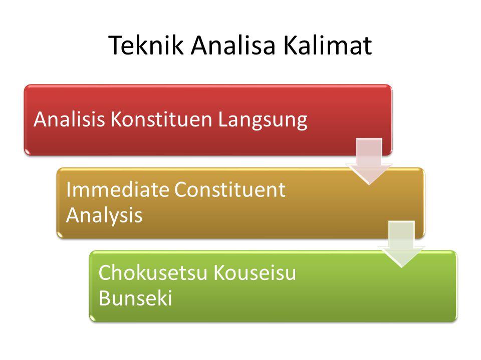 Teknik Analisa Kalimat