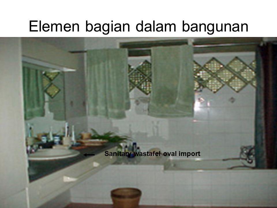 Ir. Sylvie Wirawati, MT Presentation for Century 21Jakarta, 4 th June 2002 Elemen bagian dalam bangunan Sanitary wastafel oval import