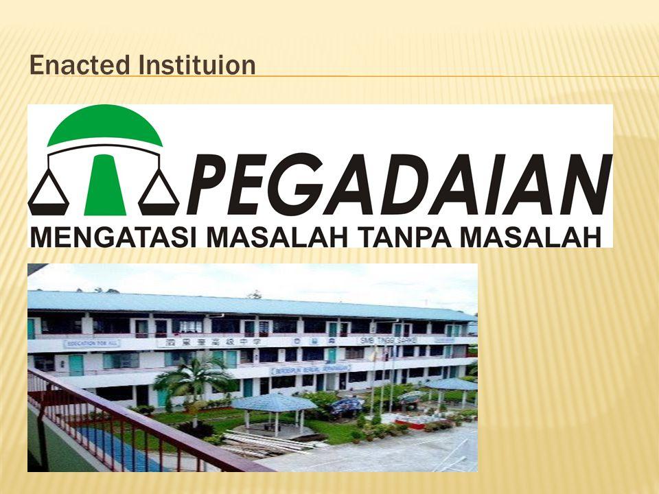 Enacted Instituion