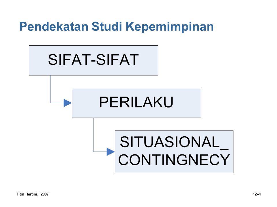 Titin Hartini, 200712–4 Pendekatan Studi Kepemimpinan