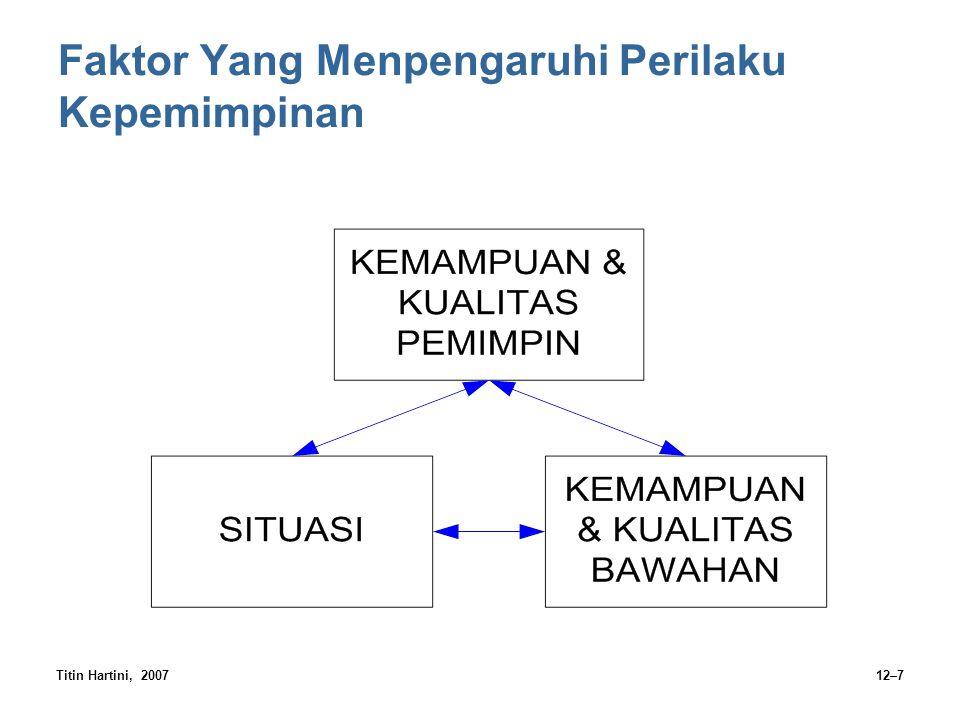 Titin Hartini, 200712–7 Faktor Yang Menpengaruhi Perilaku Kepemimpinan