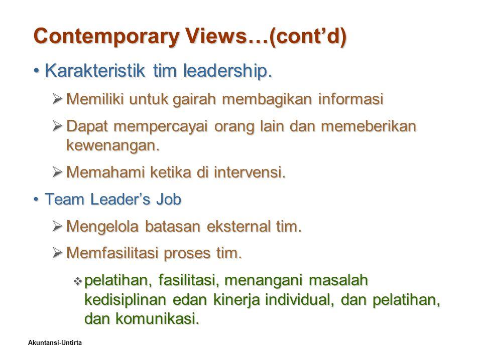 Akuntansi-Untirta Exhibit 17–8Specific Team Leadership Roles