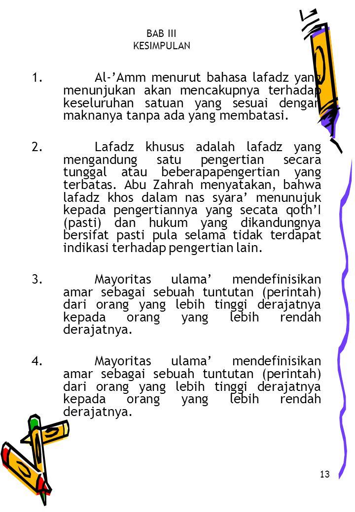 13 BAB III KESIMPULAN 1.