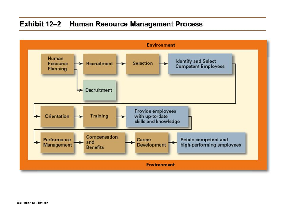 Akuntansi-Untirta Exhibit 12–2Human Resource Management Process