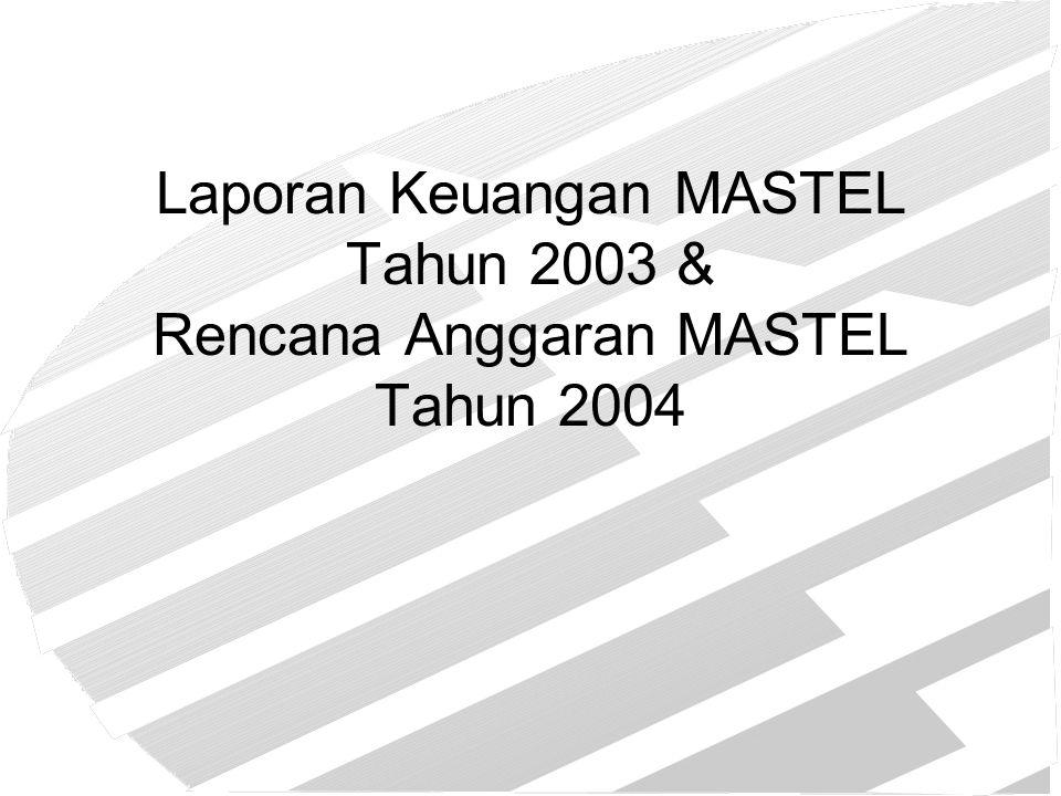 Laporan Keuangan MASTEL Tahun 2003 & Rencana Anggaran MASTEL Tahun 2004