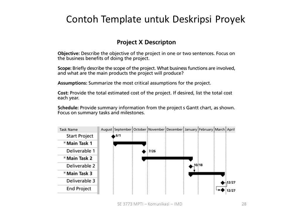 28SE 3773 MPTI – Komunikasi – IMD Contoh Template untuk Deskripsi Proyek