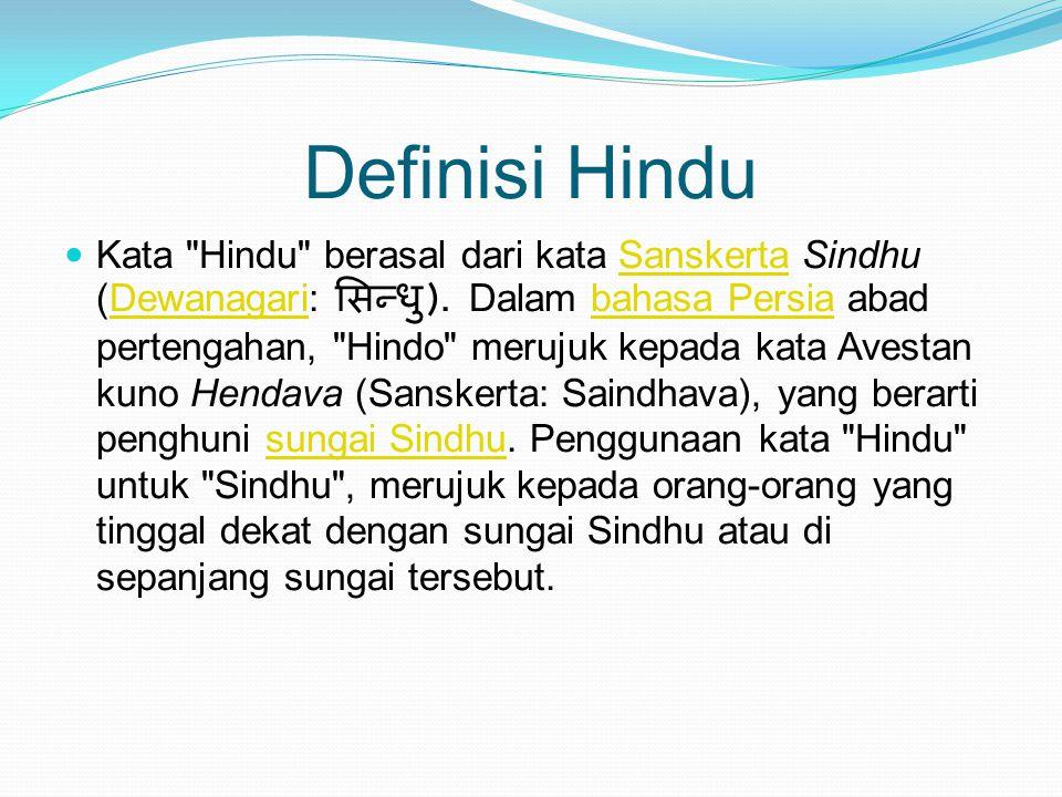 Definisi Hindu Kata
