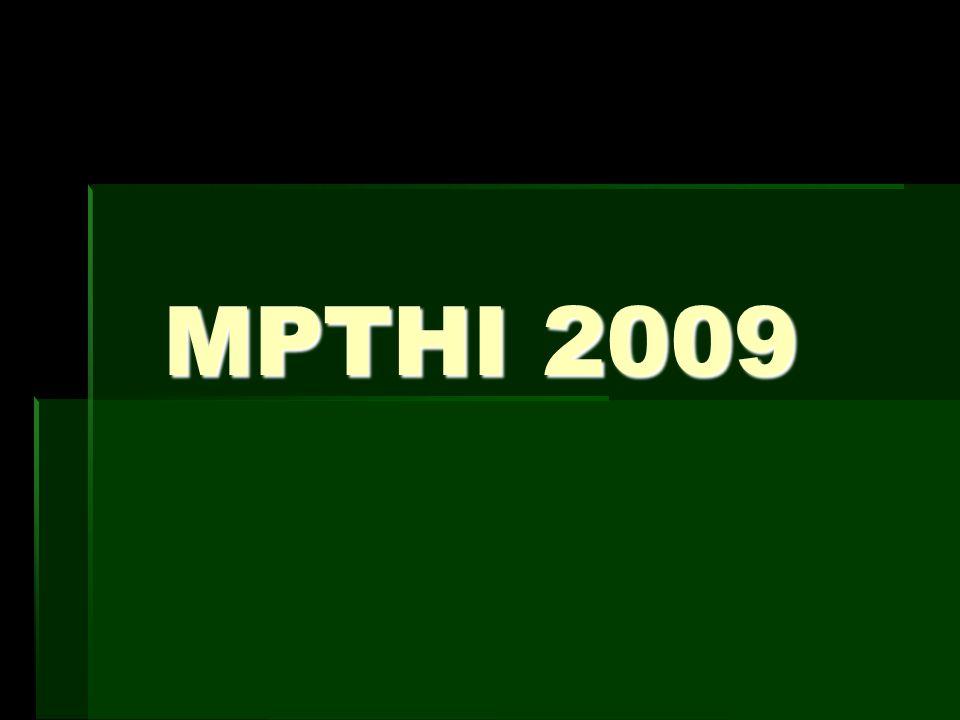 SUSUNAN PANITIA PERTEMUAN MPTHI 2009 A.Pengarah: 1.