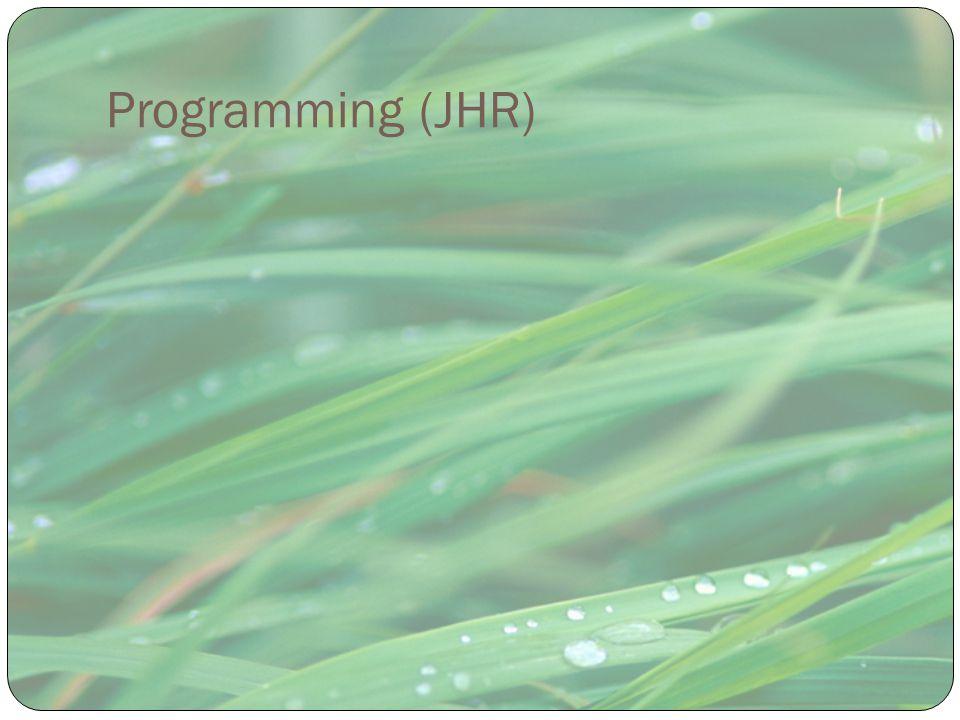 Programming (JHR)