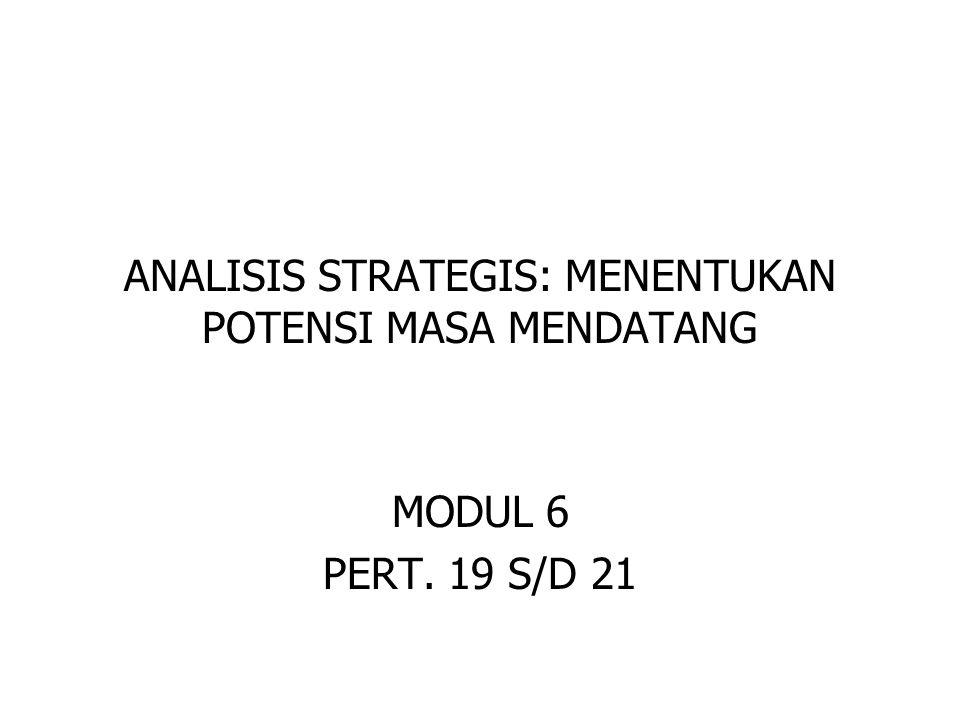 ANALISIS STRATEGIS: MENENTUKAN POTENSI MASA MENDATANG MODUL 6 PERT. 19 S/D 21