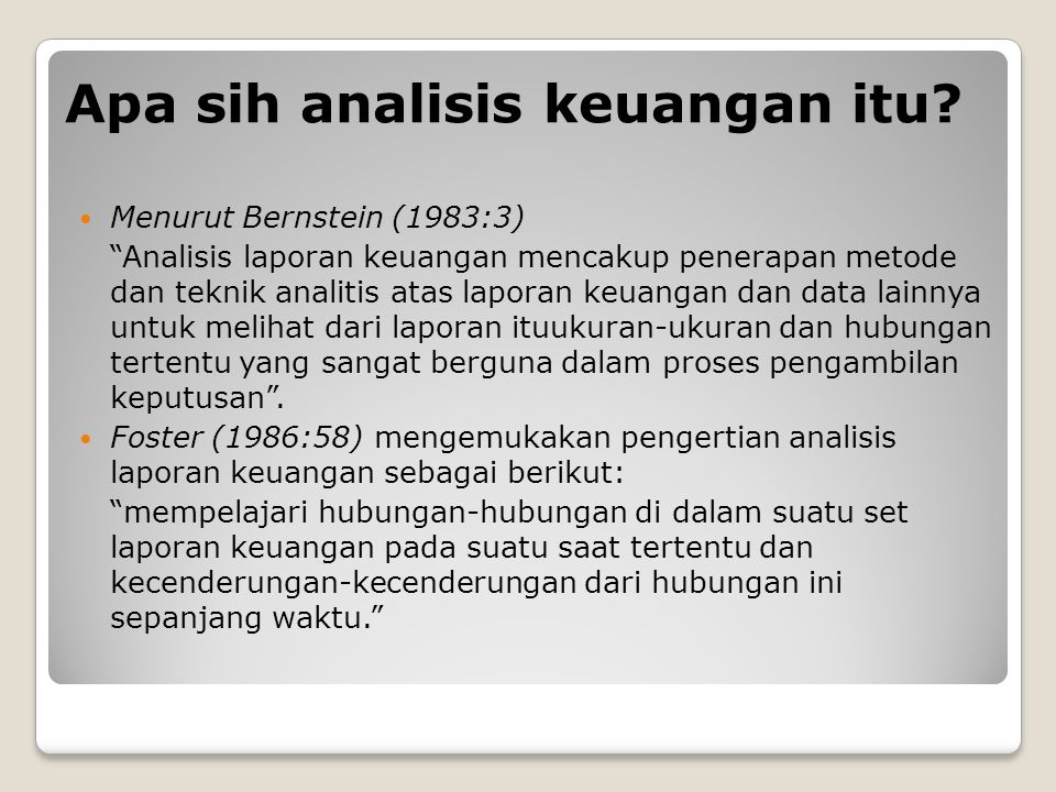 Apa sih analisis keuangan itu.