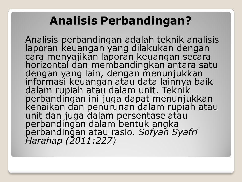 Analisis Perbandingan.