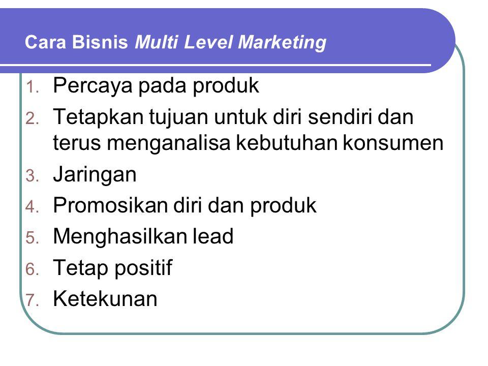Buruknya Multi Level Marketing 1.Sistem yang lebih menghasilkan disukai 2.