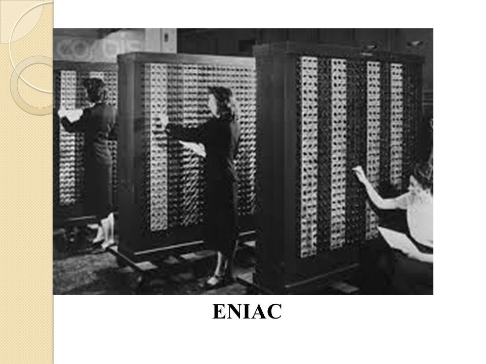 John Von Neumann ◦ Seorang ahli dalam ilmu fisika dan matematika ◦ Semula anggota team pengembangan ENIAC ◦ Pertama kali yang menggunakan aritmatika biner ◦ Konsep: Strored Program Computer ◦ Arsitektur komputer yang memiliki 5 bagian: memory, ALU, control unit, input dan output.