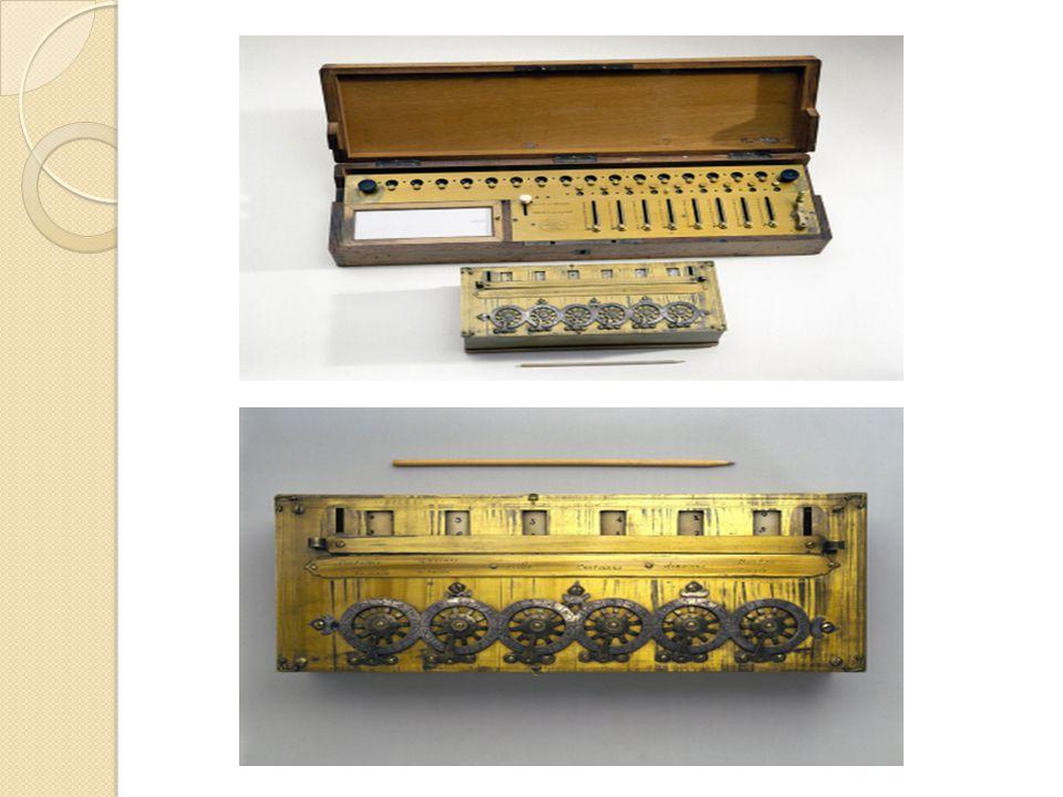 Baron Gottfried Wilhelm von Leibniz (1646- 1716) Ahli Matematika Jerman ◦ Membuat mesin yang mampu melakukan operasi penambahan, pengurangan, perkalian dan pembagian setara dengan 4 fungsi kalkulator sederhana.