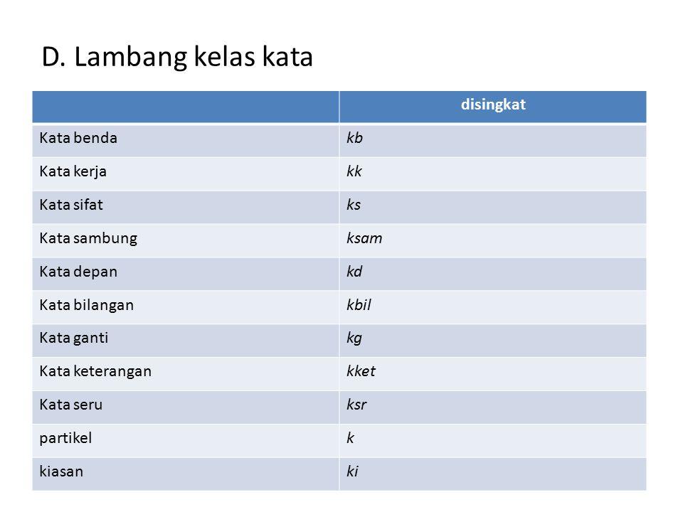 C. Petunjuk pemakaian kamus Sekolah Dasar Ejaan  sesuai dengan pedoman umum ejaan bahasa Indonesia yang disempurnakan (1991) Kata dasar, kata turunan